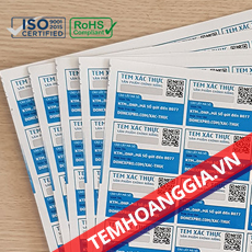 Tem xác thực – Hướng dẫn kiểm tra sản phẩm chính hãng bằng tem xác thực
