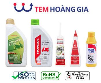 Nhãn mác dầu phanh Honda